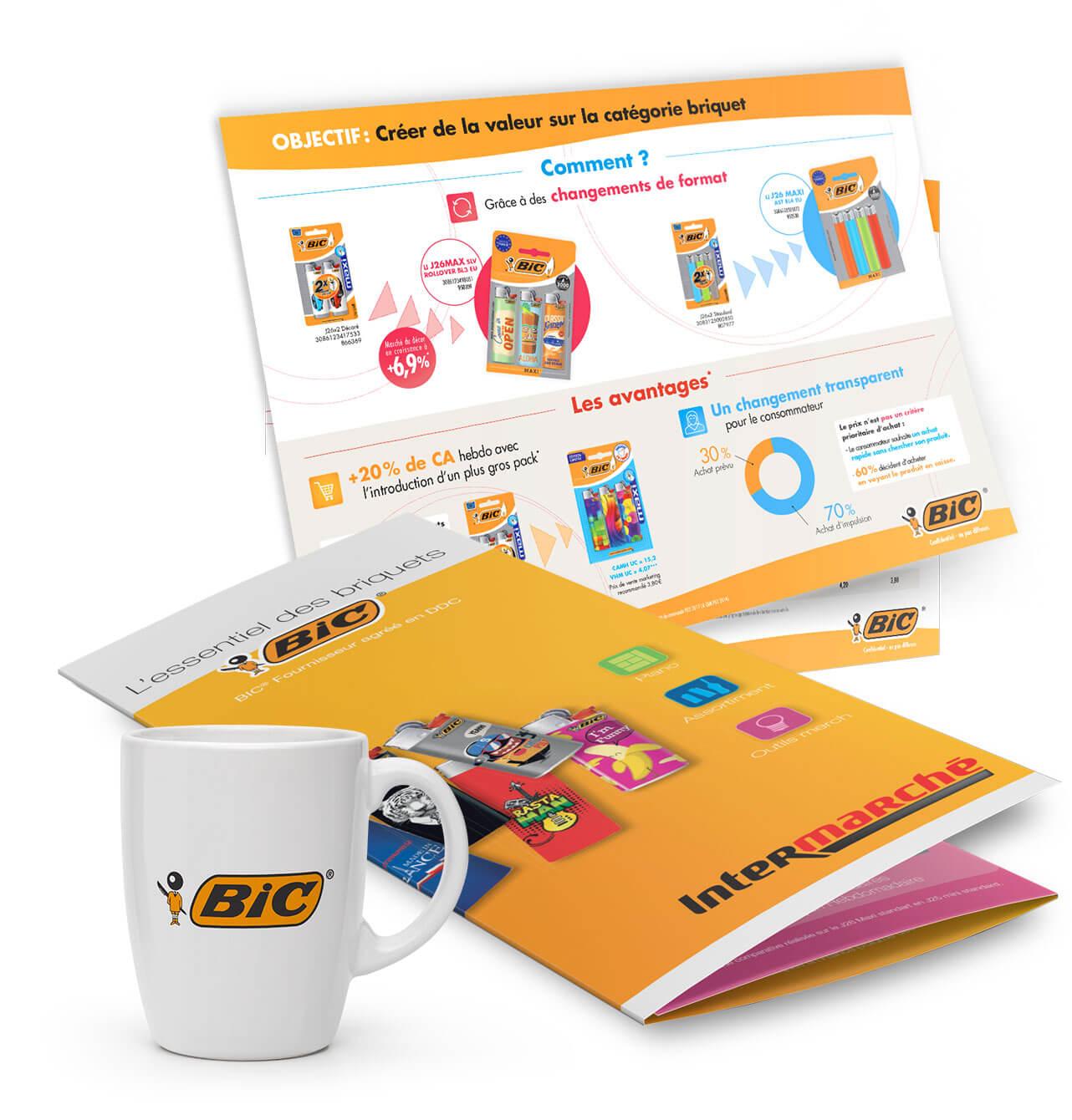 Création graphique print pour BIC