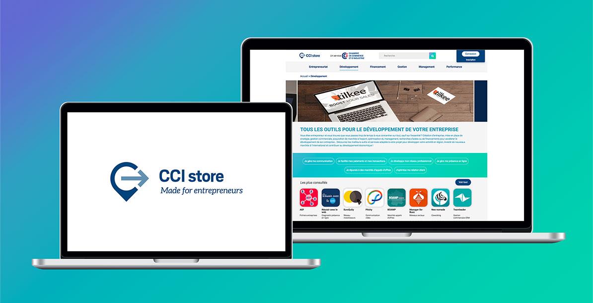 Aperçu de la refonte web de la CCI Store