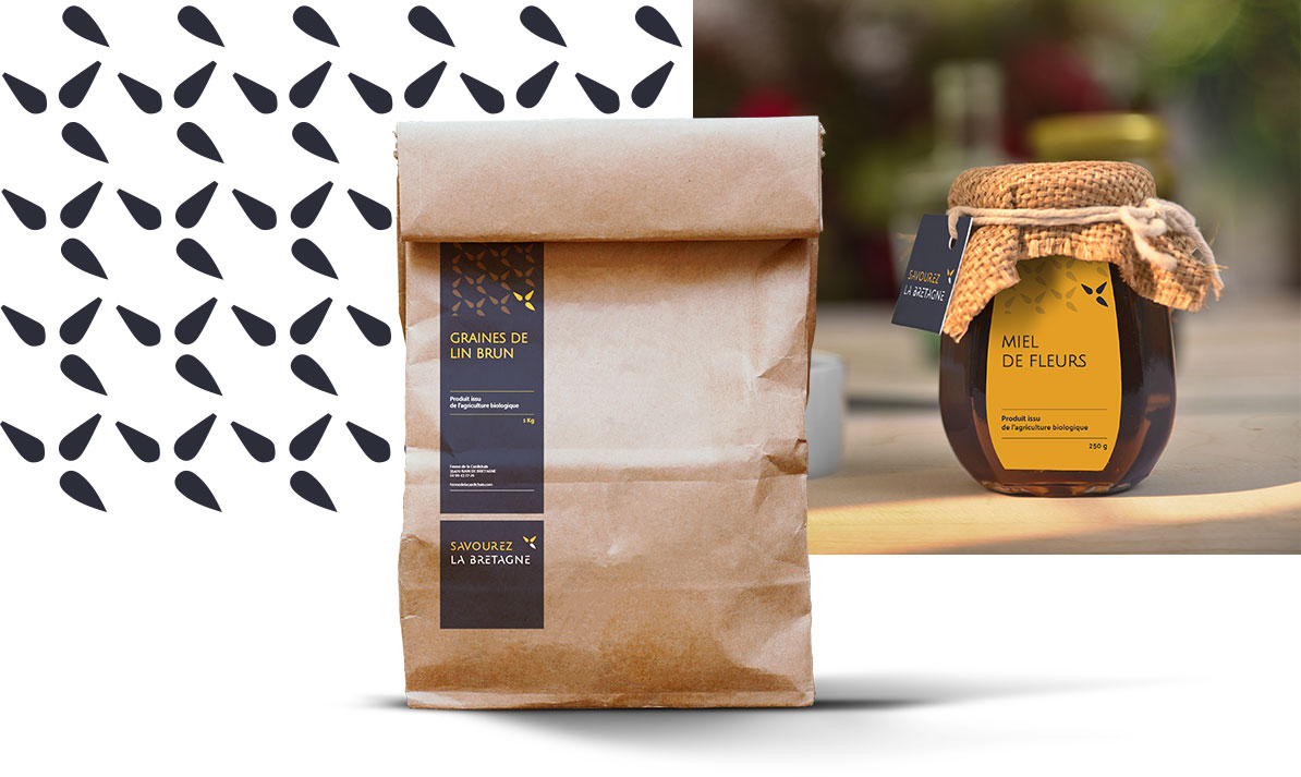"Aperçu packaging de produits ""Savourez la Bretagne"""