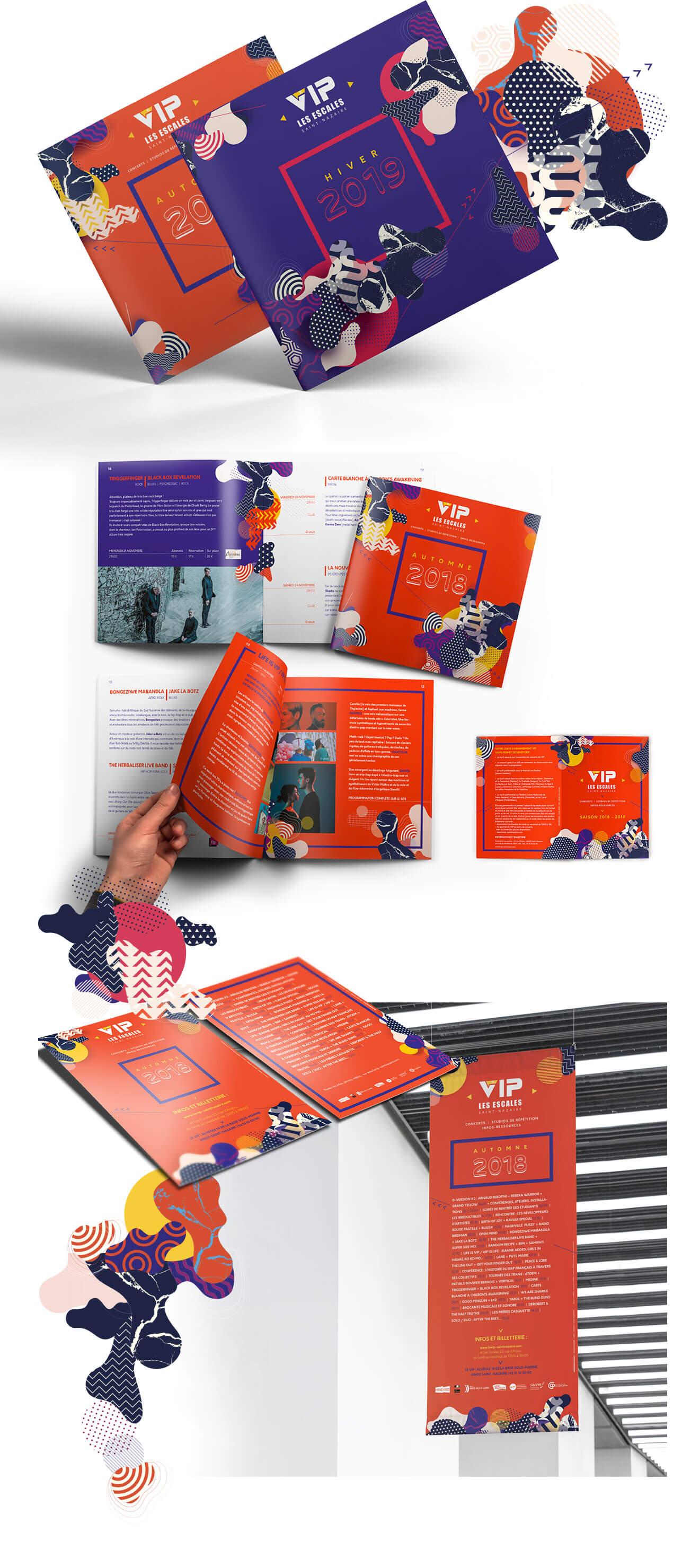 Brochures, programmation et affiche pour le VIP de Saint-Nazaire